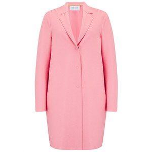 Cocoon Wool Coat - Pink Flamingo