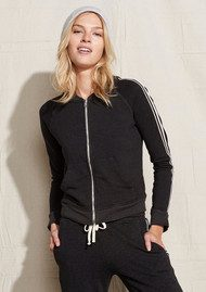 SUNDRY Track Jacket with Side Trim - Black