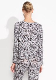 SUNDRY Champagne Crop Pullover - Animal