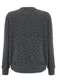 SUNDRY Sparkle Hi Low Sweater - Charcoal
