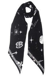 ROCKINS Classic Skinny Scarf - Black Cosmic Dancer