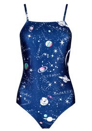 RIXO London India Swimsuit - Cosmic Constellation
