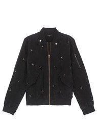 Rails Ace Studded Bomber Jacket - Black