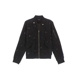 Ace Studded Bomber Jacket - Black