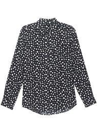 Rails Kate Silk Shirt - Black Corazon
