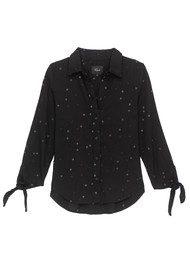 Rails Robyn Star Shirt - Black
