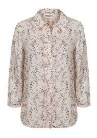 Essentiel Pia 3/4 Length Sleeve Floral Shirt - Off White