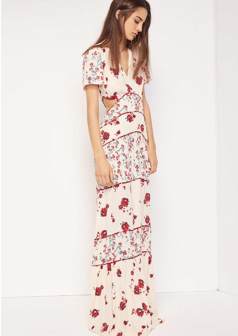 341aade46207e Blush Floral Maxi Dress - Ecru main image