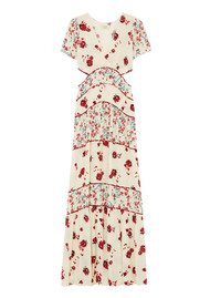 Ba&sh Blush Floral Maxi Dress - Ecru