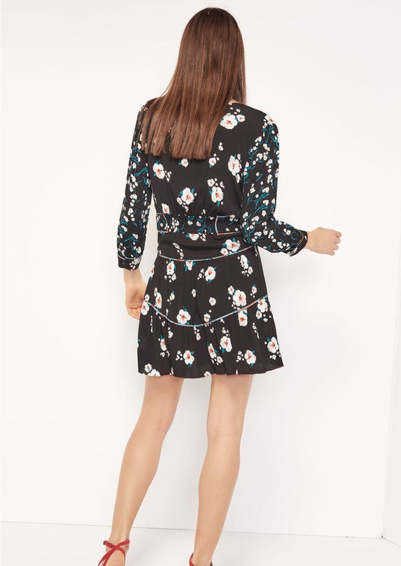 818f1916f18 ... Ba sh Belize Floral Dress - Black main image ...