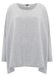 COCOA CASHMERE Lurex Poncho Cashmere Sweater - Grey Silver