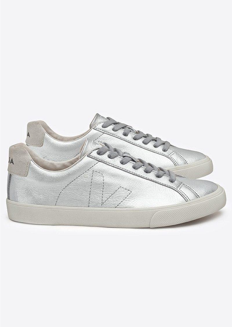 VEJA Espar Leather Trainers - Silver Pierre