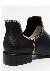 SENSO Bailey Leather Boot - Ebony & Rose Gold