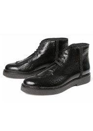 Hudson London Bonnie Patent Boots - Black