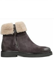 Hudson London Pat Leather Boot - Brown
