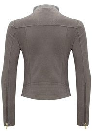 FAB BY DANIE Paris Suede Jacket - Taupe Grey