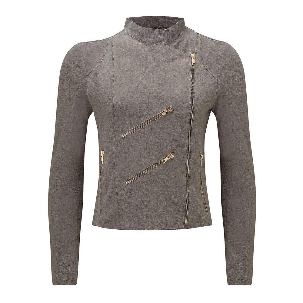 Paris Suede Jacket - Taupe Grey