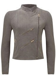 FAB BY DANIE Paris Suede Jacket - Taupe Grey