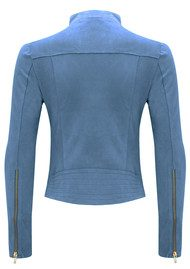 FAB BY DANIE Paris Suede Jacket - Denim Blue
