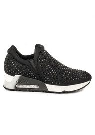 Ash Lifting Neoprene Trainers - Black