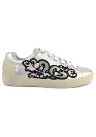 Ash Nak Bis Embroidered Trainers - Silver Black