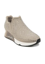 Ash Lifting Neoprene Trainers - Taupe