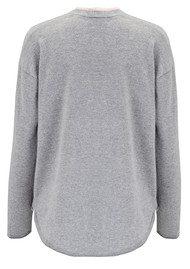 COCOA CASHMERE Honey Fabric Cashmere Cardigan - Grey & Bubble