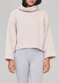 VARLEY Whittier Ribbed Sweatshirt - Rose