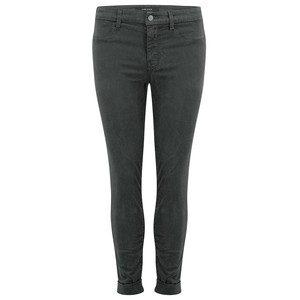 Anja Clean Cuffed Crop Jeans - Zinc