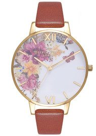 Olivia Burton Enchanted Garden Watch - Tan & Gold