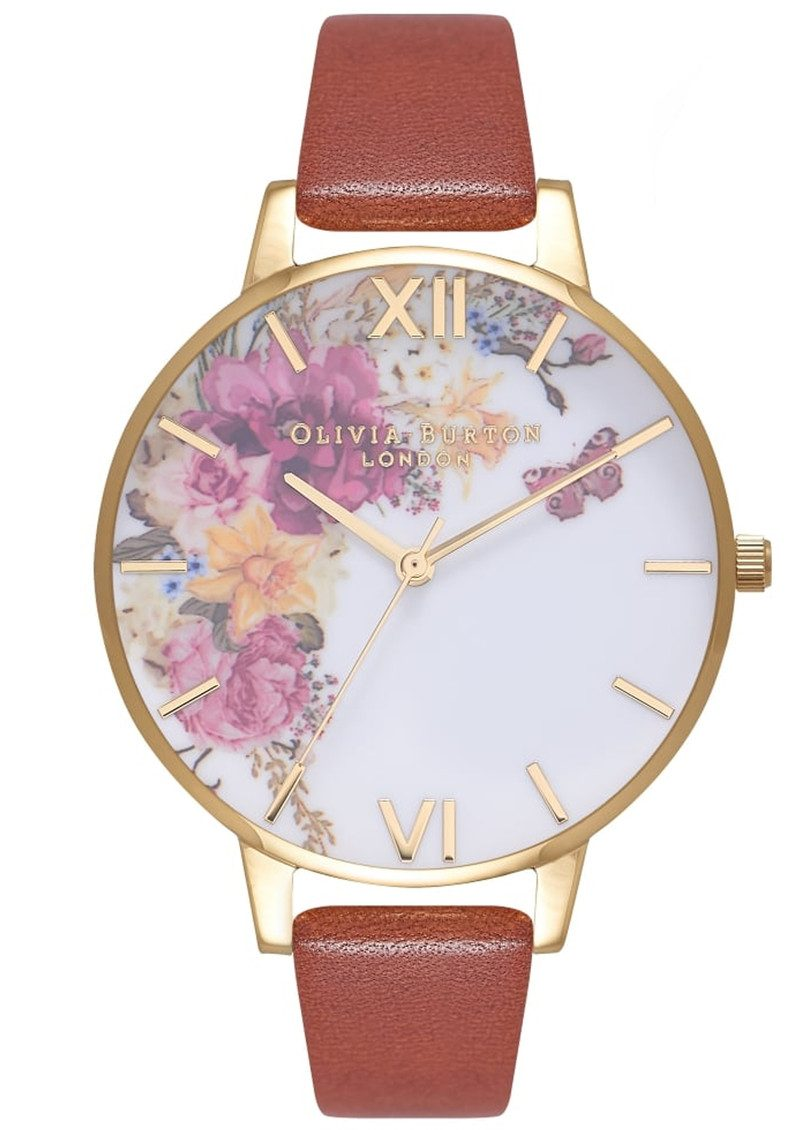 Enchanted Garden Watch - Tan & Gold main image