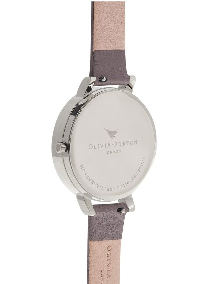 Olivia Burton Embroidered Dial Watch - London Grey & Silver main image
