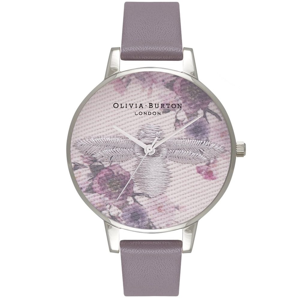 Embroidered Dial Watch - London Grey & Silver