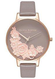 Olivia Burton Floral Bouquet Watch - London Grey & Rose Gold