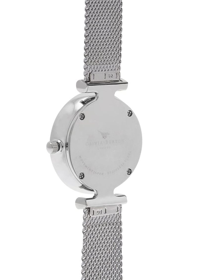 Social Butterfly Mesh Watch - Silver main image