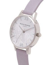 Olivia Burton Lace Detail Watch - Grey Lilac & Silver