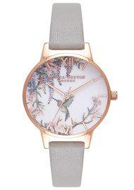 Olivia Burton Painterly Prints Watch - Grey & Rose Gold