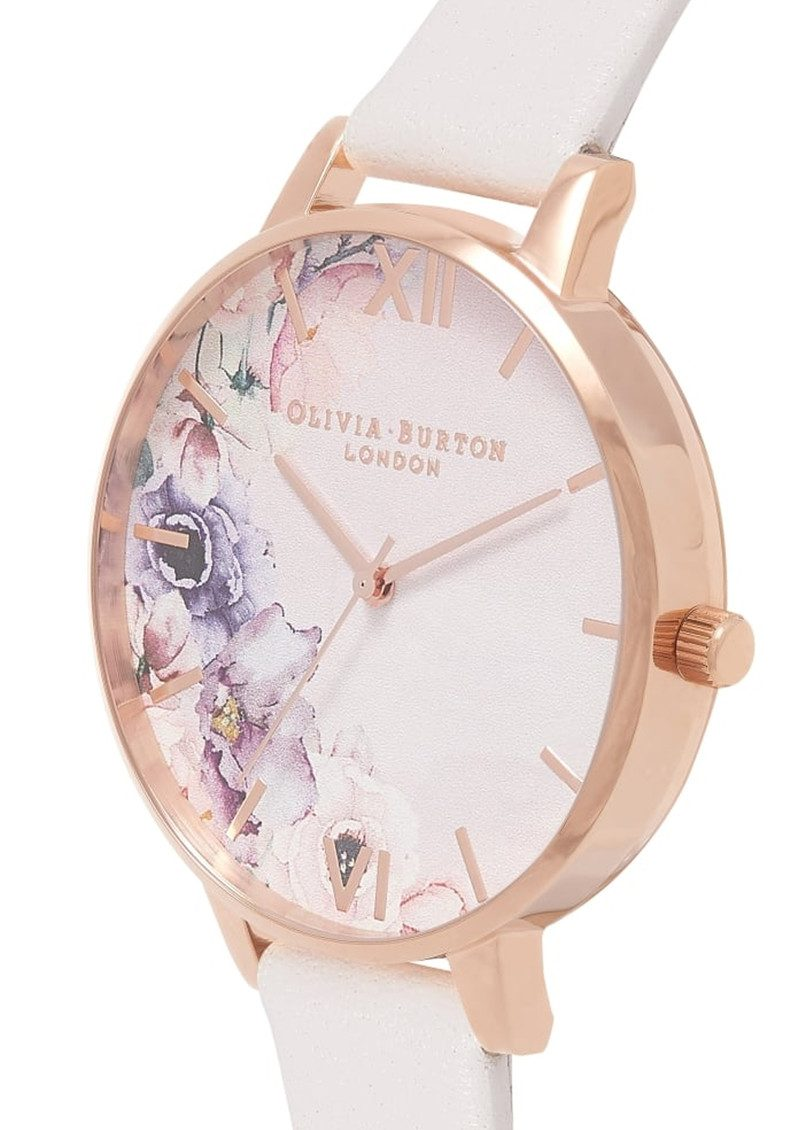 Olivia Burton Watercolour Floral Watch - Blush & Rose Gold main image