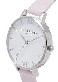 Olivia Burton Big White Dial Watch - Blossom & Silver