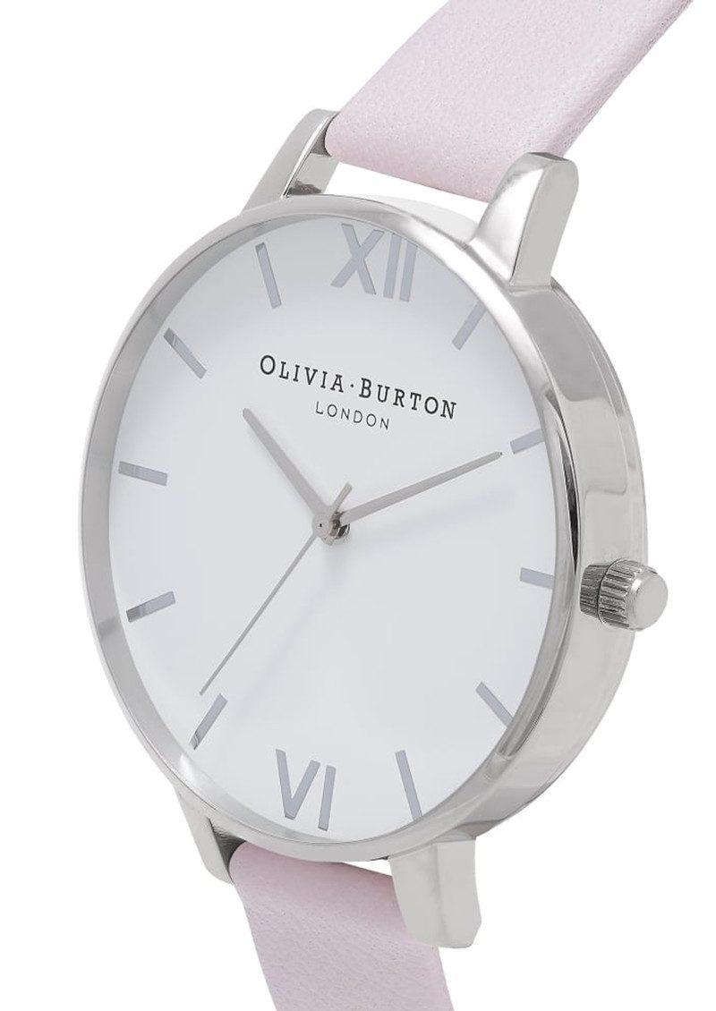 Olivia Burton Big White Dial Watch - Blossom & Silver main image