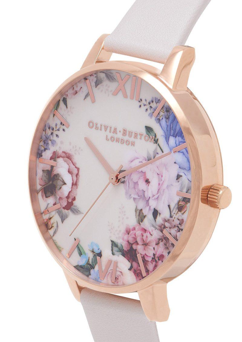 Olivia Burton Enchanted Garden Watch - Nude & Rose Gold main image
