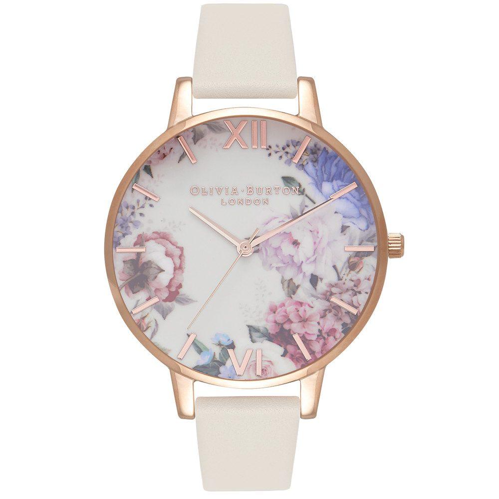 Enchanted Garden Watch - Nude & Rose Gold