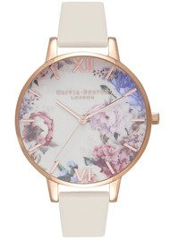 Olivia Burton Enchanted Garden Watch - Nude & Rose Gold