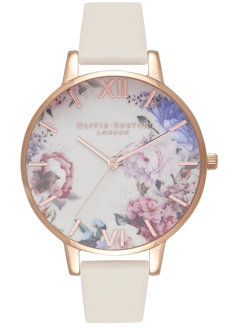 4f269fff463e Olivia Burton Enchanted Garden Watch - Nude   Rose Gold