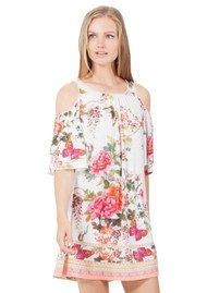Hale Bob Anci Floral Jersey Dress - Ivory