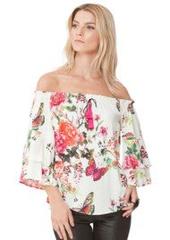 Hale Bob Faina Off Shoulder Top - Ivory