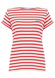 MAISON LABICHE Sailor Short Sleeve Divine Tee - Poppy Red