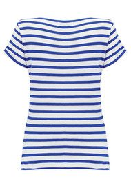 MAISON LABICHE Sailor Short Sleeve Cherie Tee - White & Blue