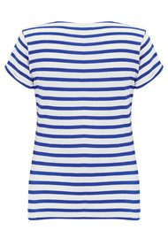 MAISON LABICHE Sailor Short Sleeve Deja Vu Tee - White & Blue