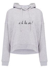 MAISON LABICHE C'est La Vie Hoodie - Heather Grey